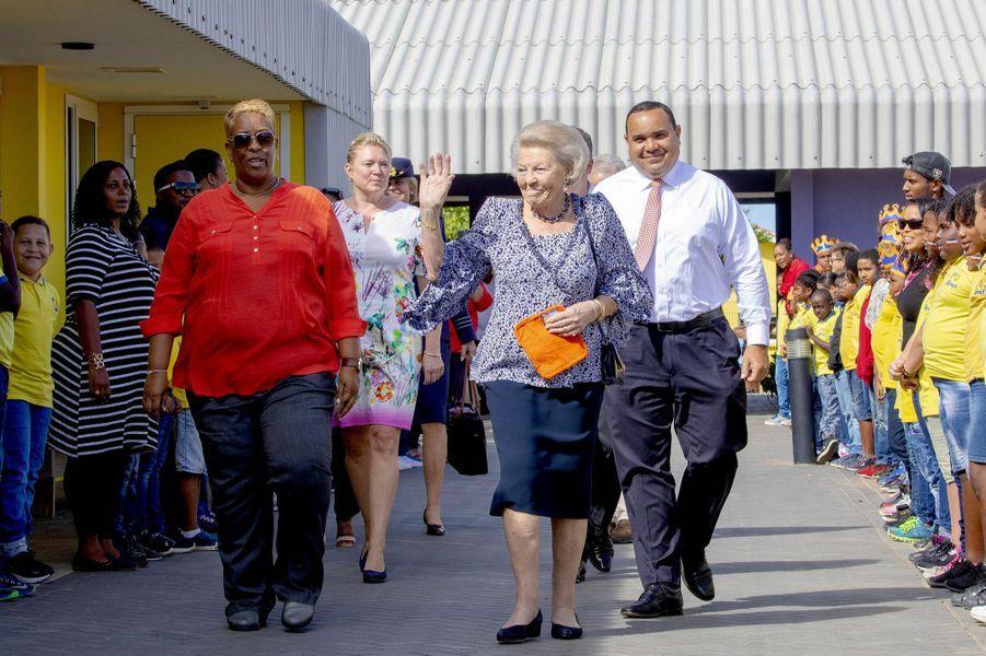 L'ex-reine Beatrix des Pays-Bas sur l'île de Bonaire dans les Caraïbes, le 29 novembre 2018