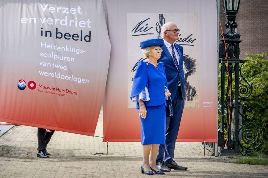 L'ex-reine Beatrix des Pays-Bas au musée Huis Doorn, le 24 août 2018