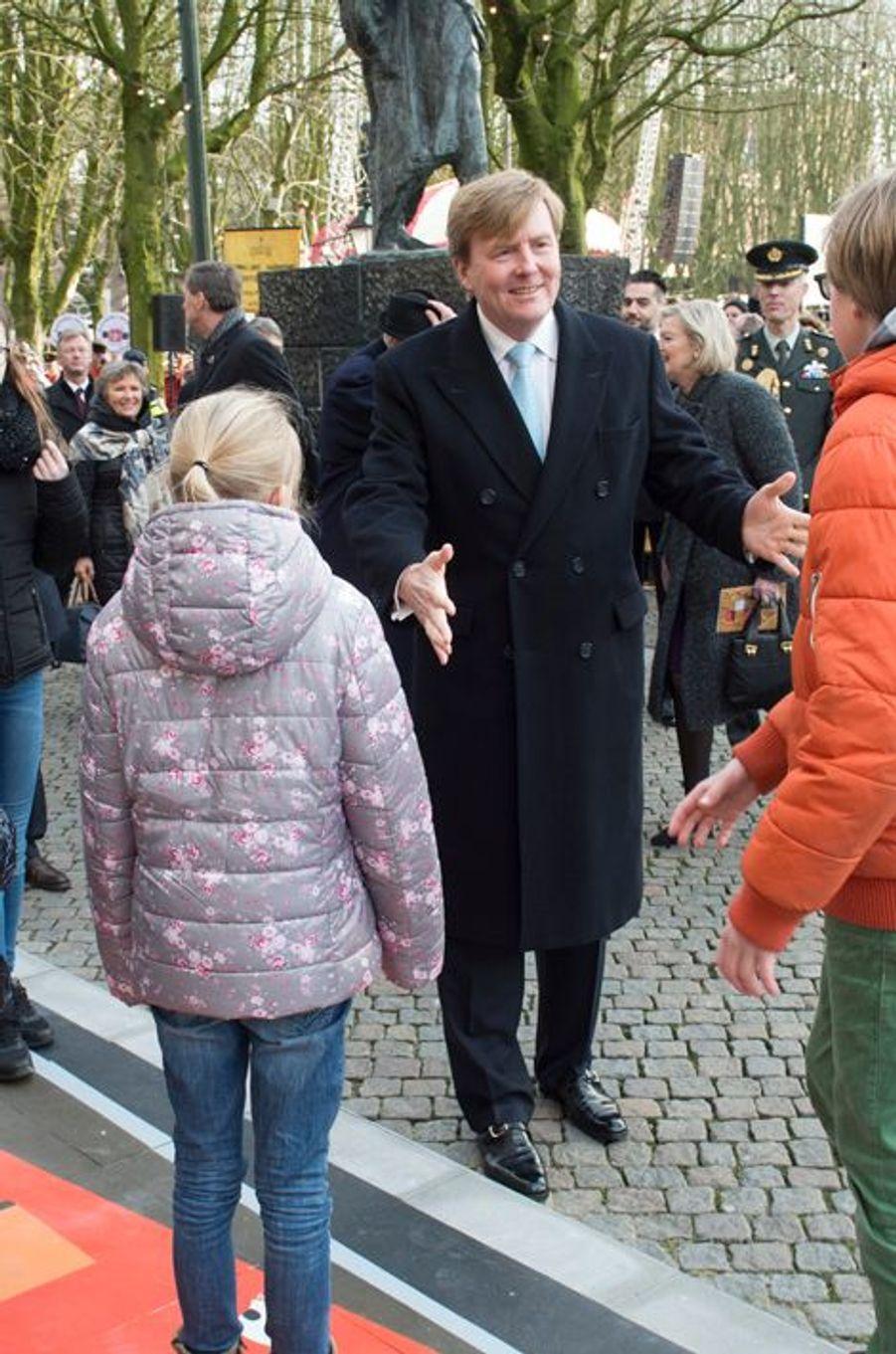 Le roi Willem-Alexander des Pays-Bas à Bois-le-Duc, le 12 février 2016