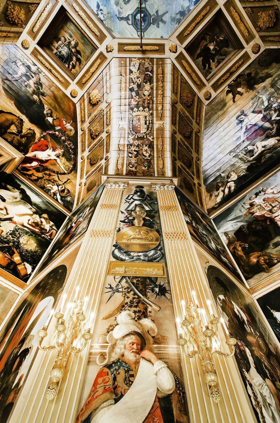 Détail de l'Oranjezaal du palais de la Huis ten Bosch à La Haye, le 4 septembre 2015