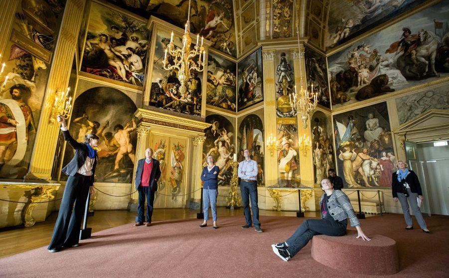 Détail de l'Oranjezaal du palais de la Huis ten Bosch à La Haye, le 7 septembre 2015