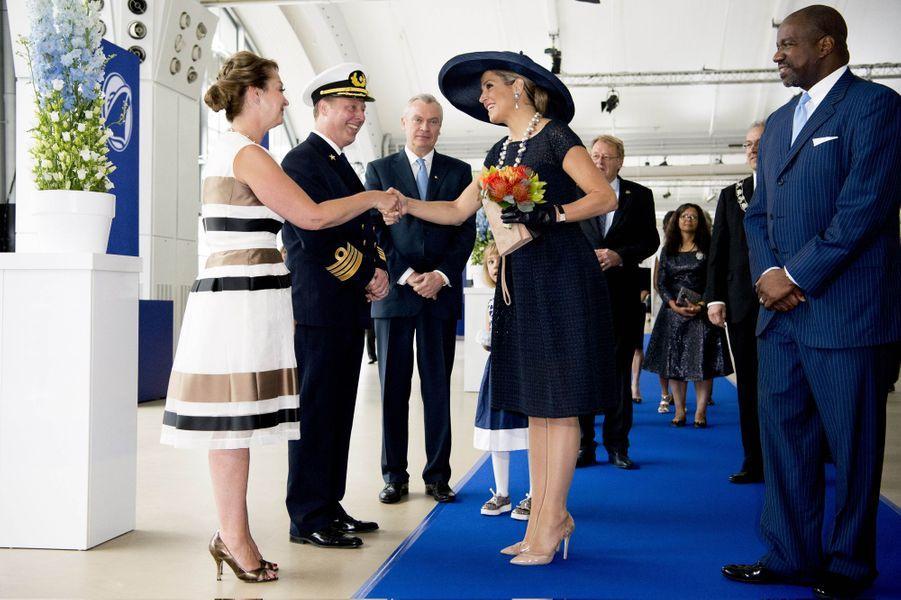 La reine Maxima des Pays-Bas à Rotterdam, le 20 mai 2016