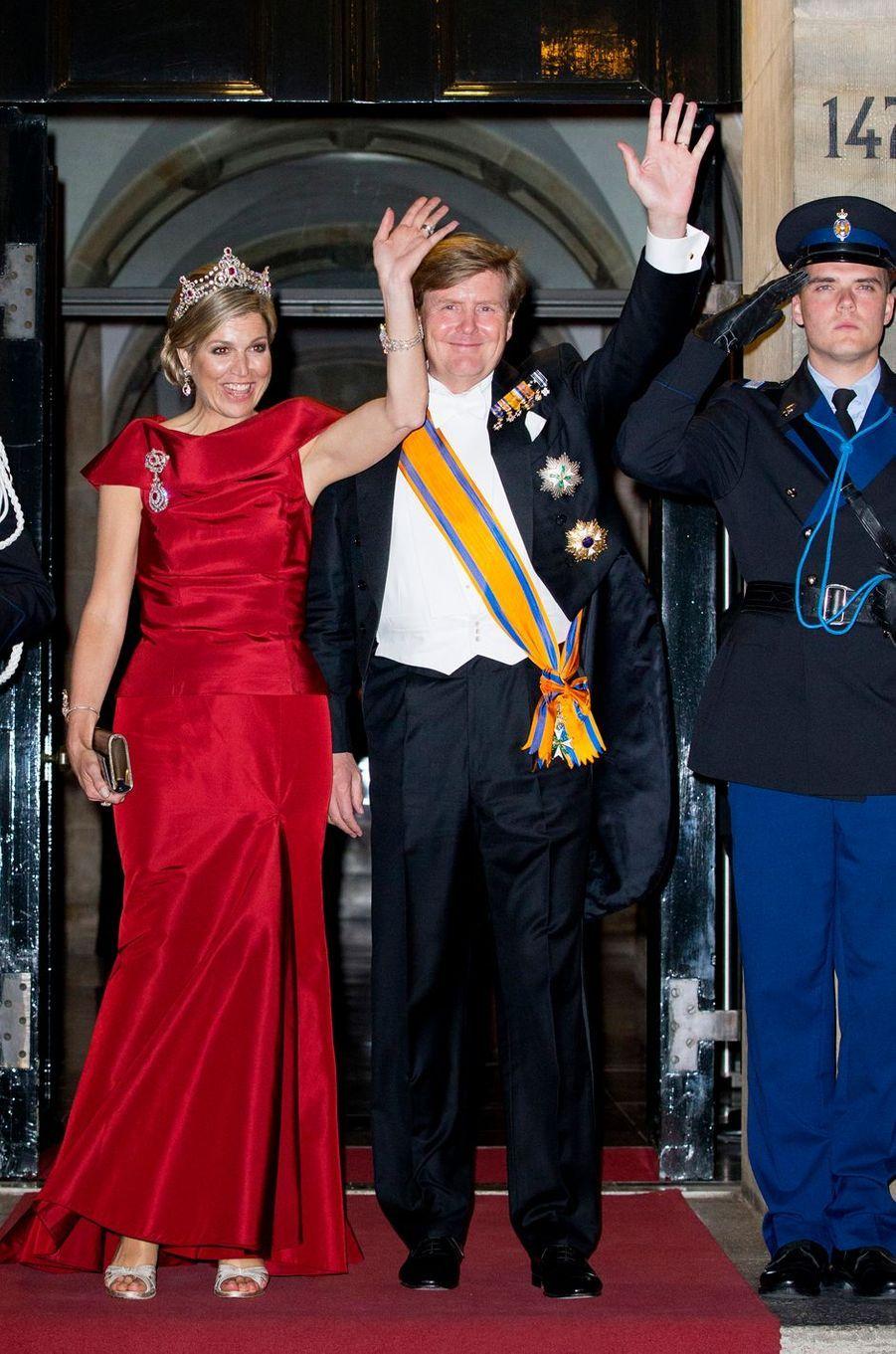 La reine Maxima et le roi Willem-Alexander des Pays-Bas à Amsterdam, le 19 mai 2016