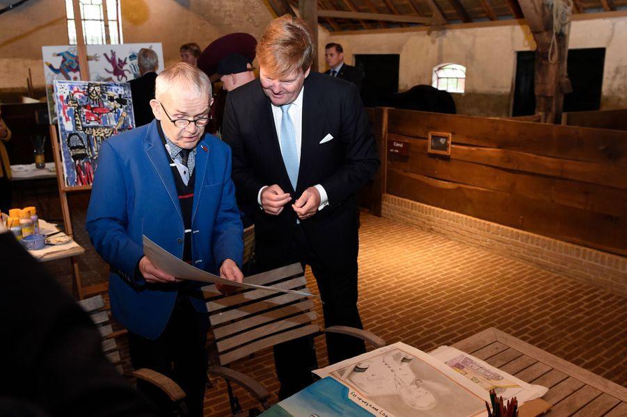 Le roi Willem-Alexander des Pays-Bas dans l'Eemland, le 24 octobre 2017