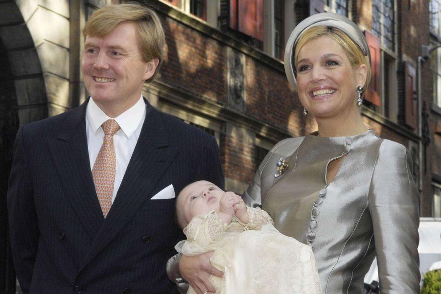 La princesse Ariane des Pays-Bas avec ses parents, le 20 octobre 2007