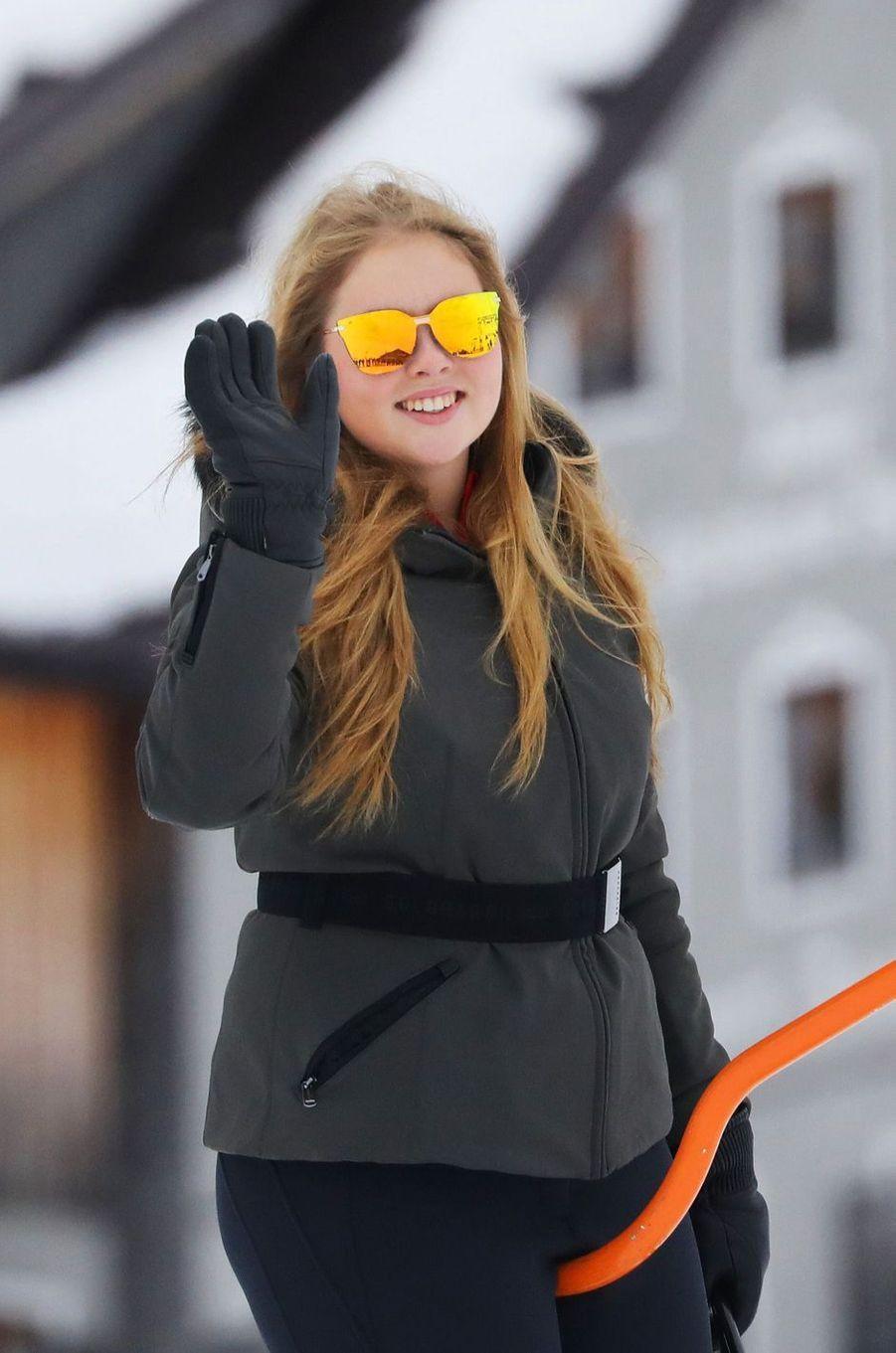 La princesse Catharina-Amalia des Pays-Bas en vacances à Lech en Autriche, le 25 février 2019