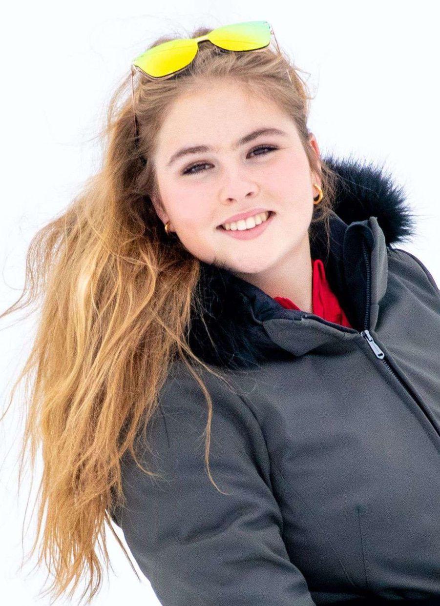 La princesse héritière Catharina-Amalia des Pays-Bas à Lech en Autriche, le 25 février 2019