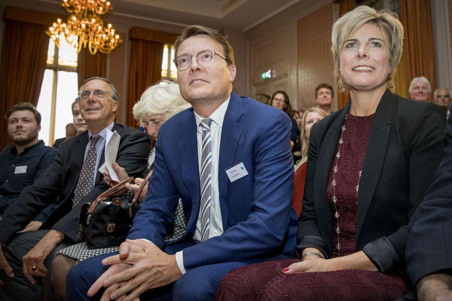 La princesse Laurentien des Pays-Bas avec son mari et ses parents à La Haye, le 3 octobre 2017
