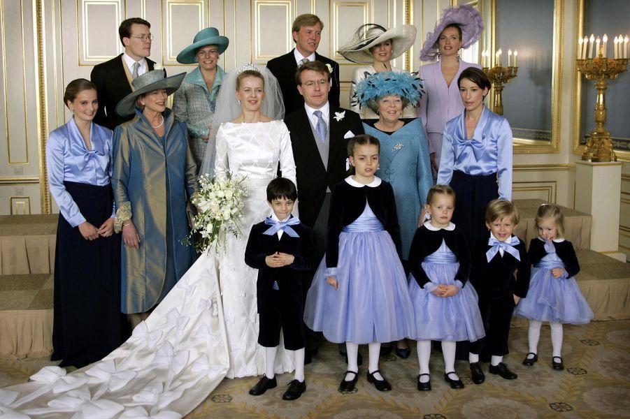 Photo du mariage de Mabel Wisse Smit et du prince Friso des Pays-Bas, le 24 avril 2004