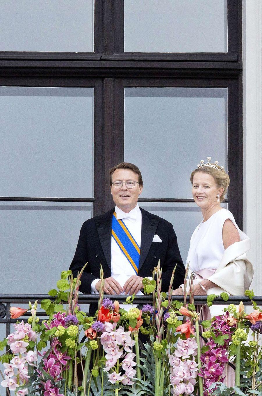 La princesse Mabel d'Orange-Nassau avec son beau-frère le prince Constantijn, le 9 mai 2017