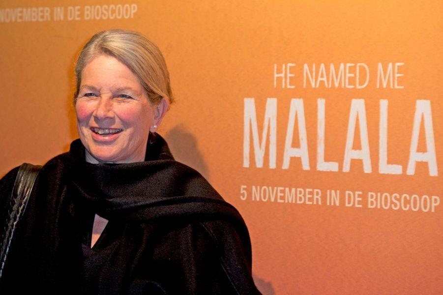 Flos Kooman, la mère de la princesse Mabel des Pays-Bas à Hilversum, le 1er novembre 2015