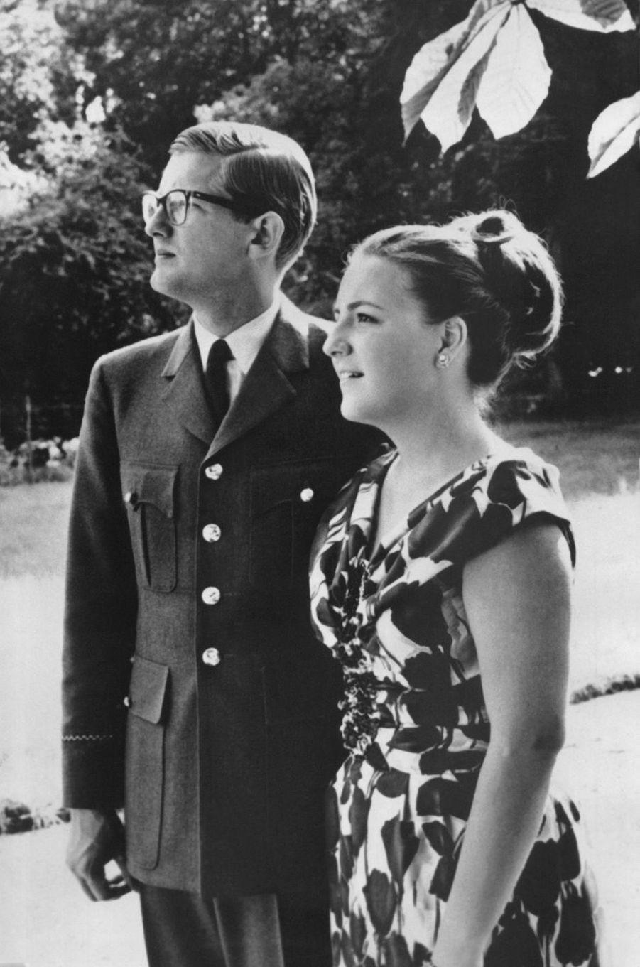 La princesse Margriet des Pays-Bas avec son fiancé Pieter van Vollenhoven, le 12 décembre 1966