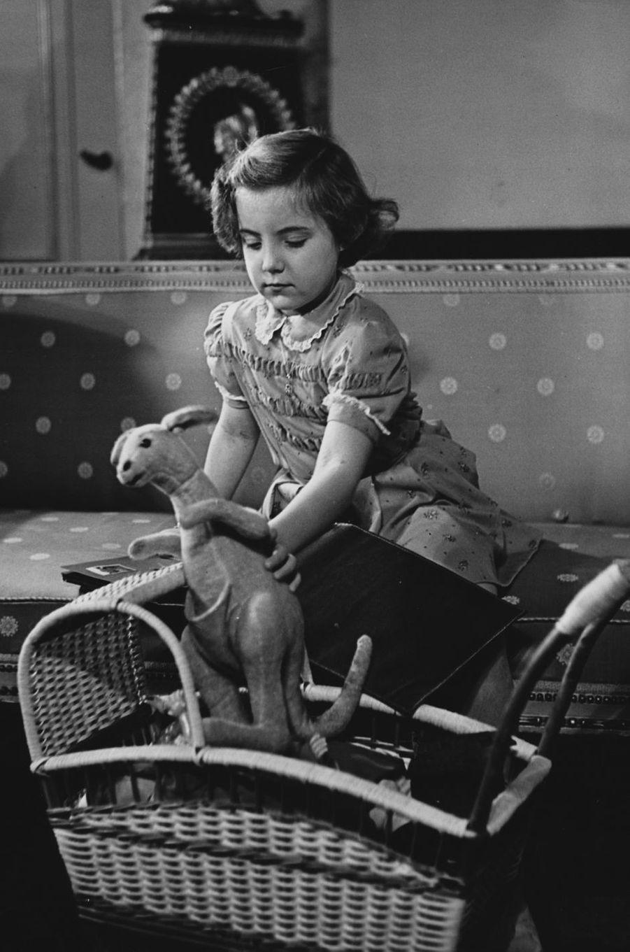 La princesse Margriet des Pays-Bas, photo de ses 5 ans en 1948