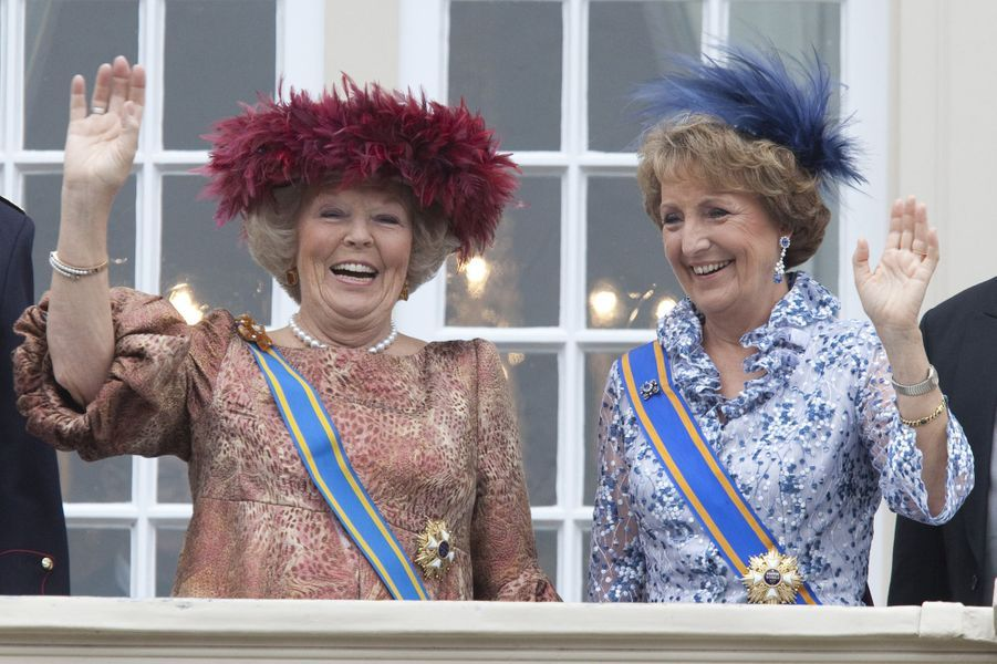 La princesse Margriet des Pays-Bas avec la reine Beatrix, le 15 septembre 2009