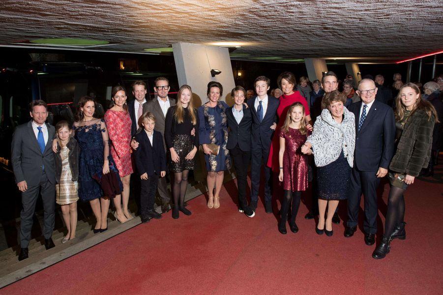 La princesse Margriet des Pays-Bas avec sa famille le jour de son 75e anniversaire, le 19 janvier 2018