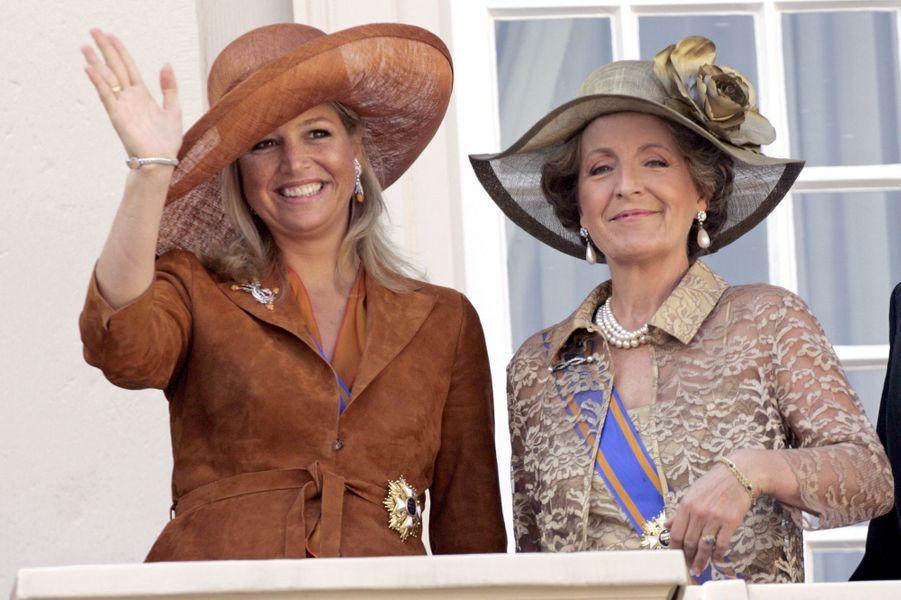 La princesse Margriet des Pays-Bas avec la princesse Maxima, le 20 septembre 2005