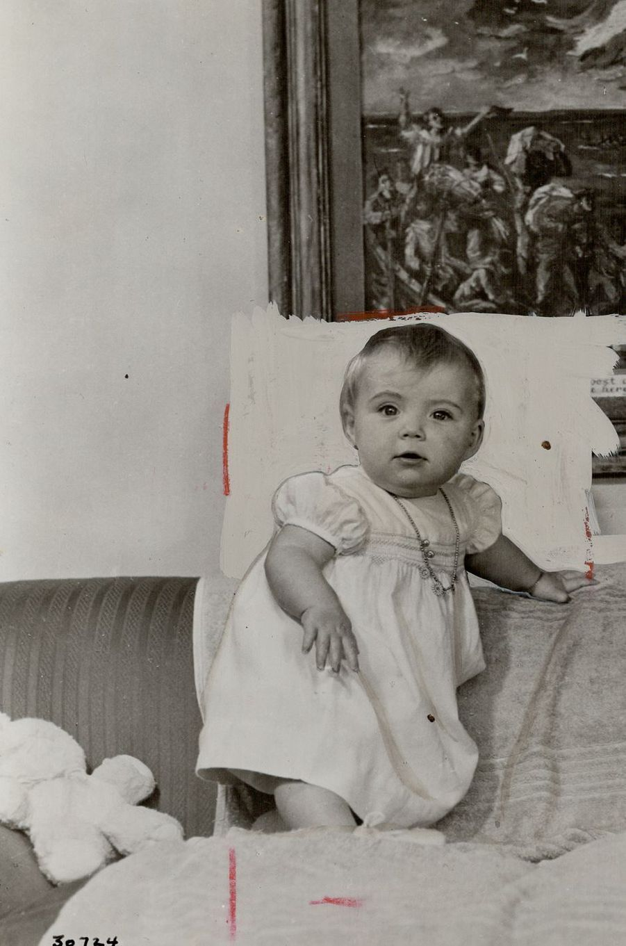 La princesse Margriet des Pays-Bas, photo pour son 1er anniversaire en 1944
