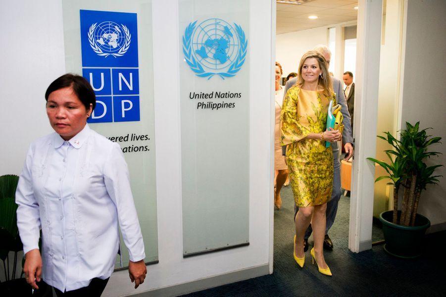 La reine Maxima des Pays-Bas à Manille, le 30 juin 2015