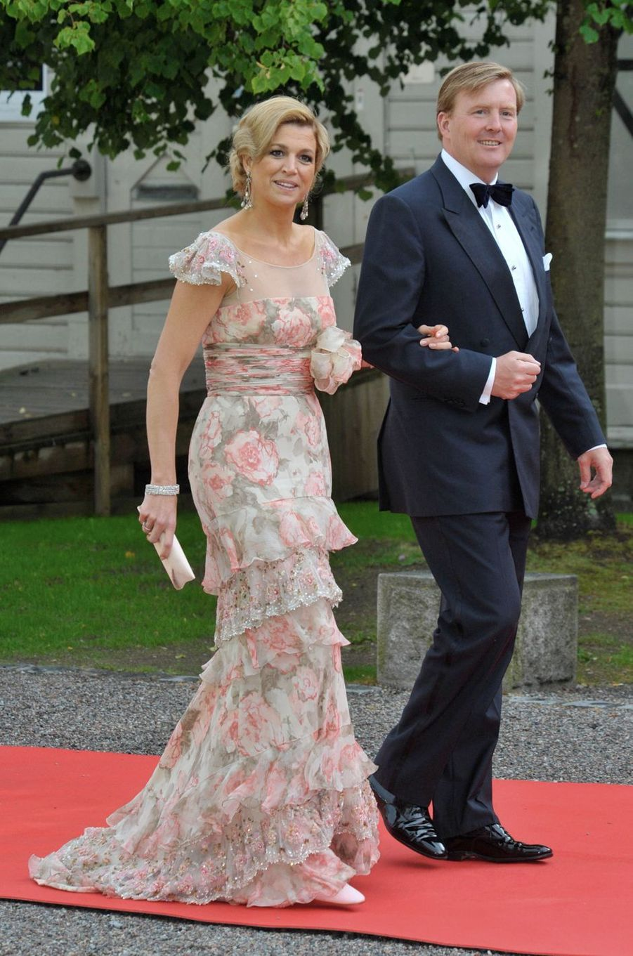 La princesse Maxima des Pays-Bas avec le prince Willem-Alexander, le 18 juin 2010