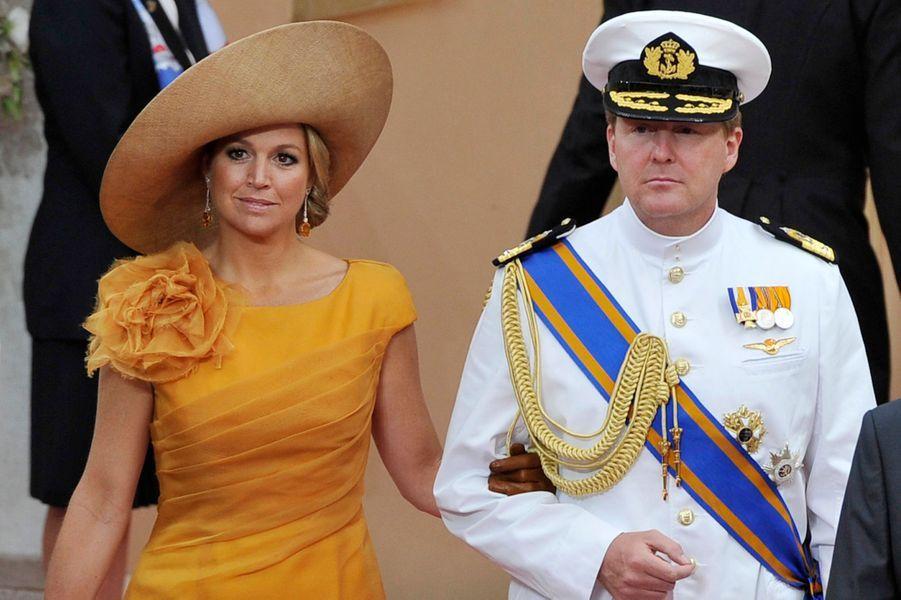 La princesse Maxima des Pays-Bas avec le prince Willem-Alexander, le 2 juillet 2011