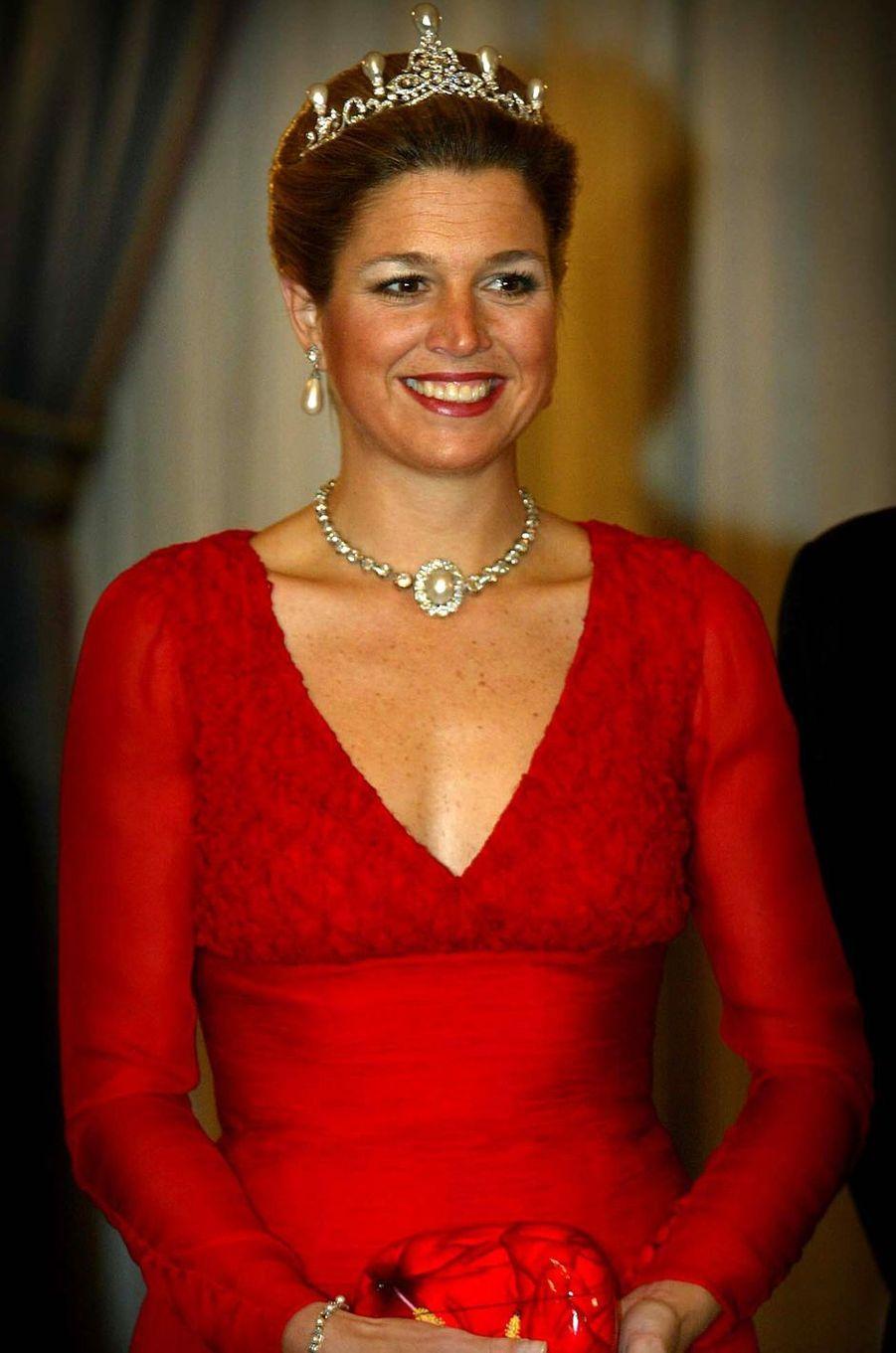 La princesse Maxima des Pays-Bas, le 27 janvier 2003