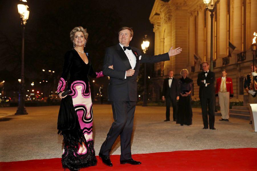 La reine Maxima des Pays-Bas avec le roi Willem-Alexander, le 11 mars 2016