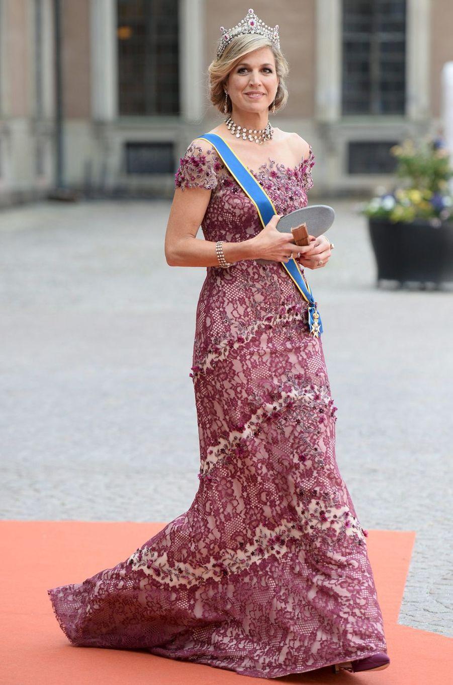 La reine Maxima des Pays-Bas avec le roi Willem-Alexander, le 13 juin 2015