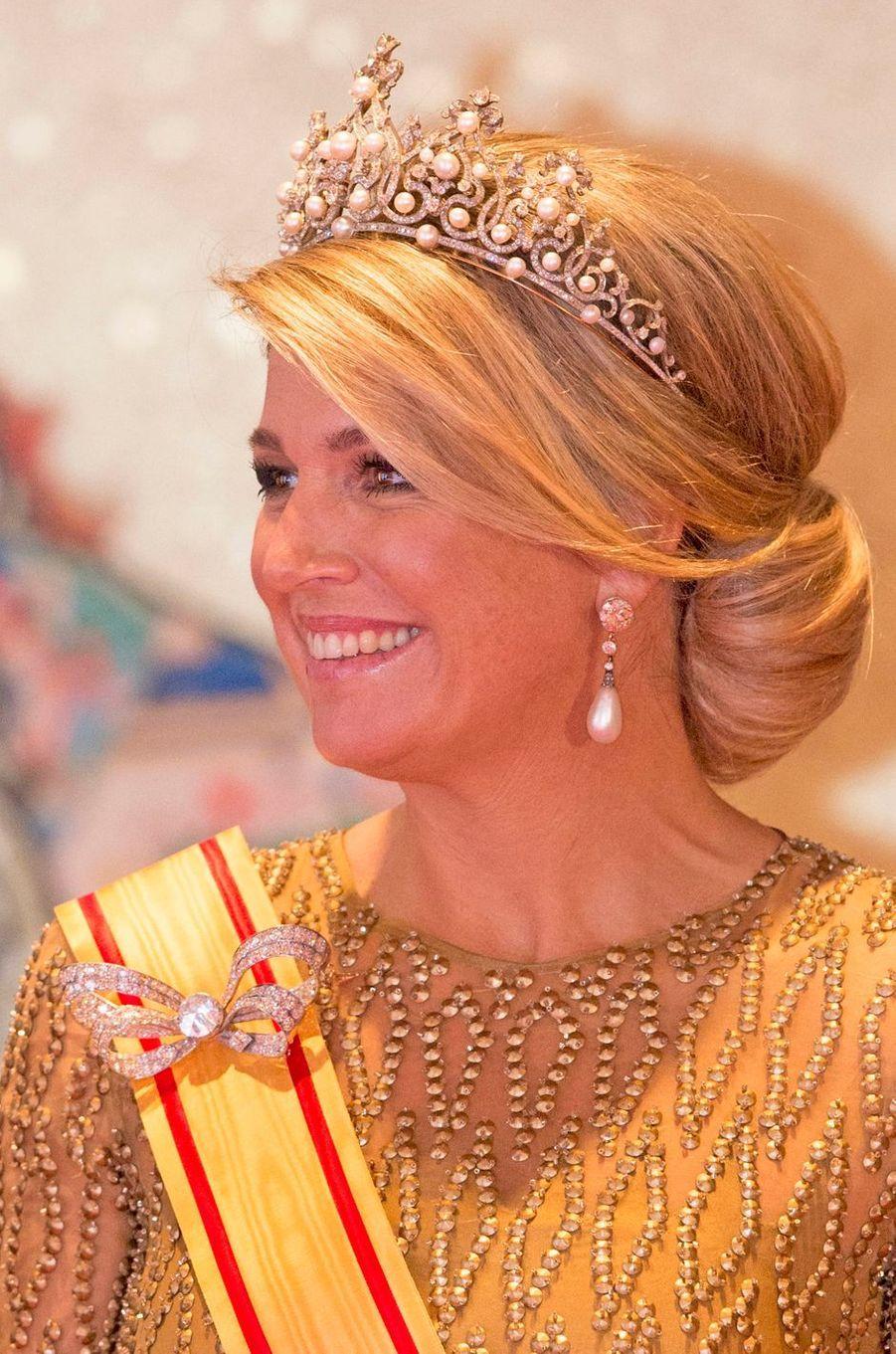 La reine Maxima des Pays-Bas, le 29 octobre 2014