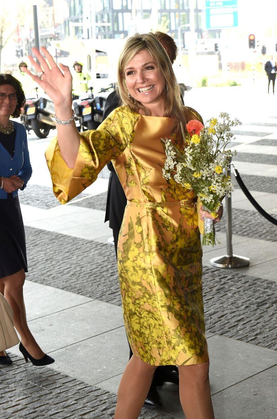 La reine Maxima des Pays-Bas le jour de ses 45 ans, le 17 mai 2016
