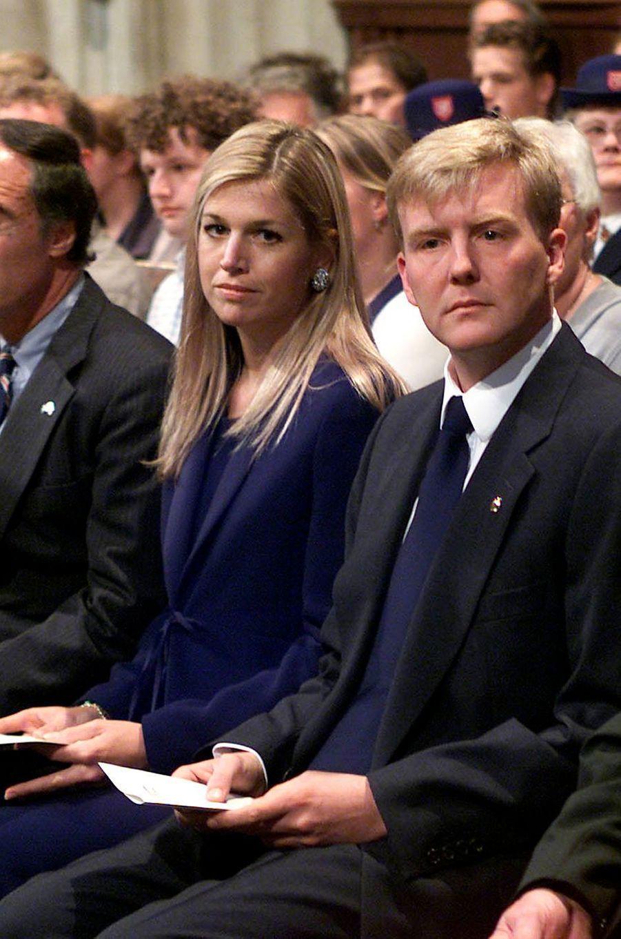 Maxima Zorreguieta et le prince Willem-Alexander des Pays-Bas, le 15 septembre 2001