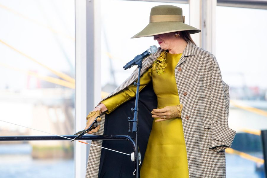 La reine Maxima des Pays-Bas à Rotterdam, le 14 décembre 2018