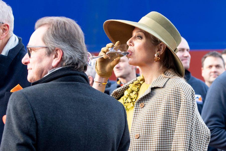 La reine Maxima des Pays-Bas, le 14 décembre 2018 à Rotterdam