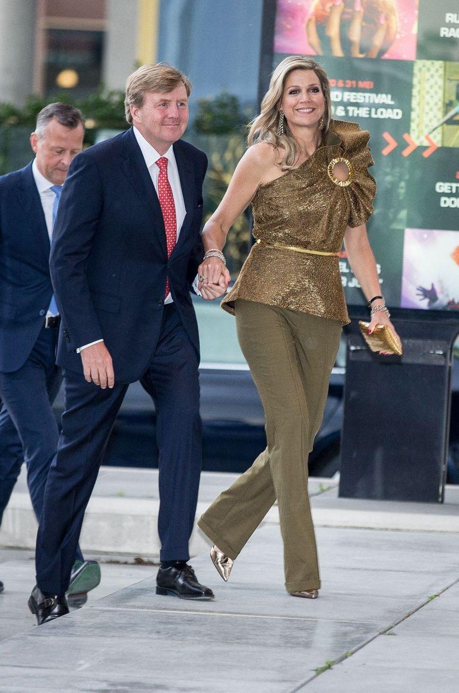 La reine Maxima et le roi Willem-Alexander des Pays-Bas à Amsterdam, le 29 mai 2019