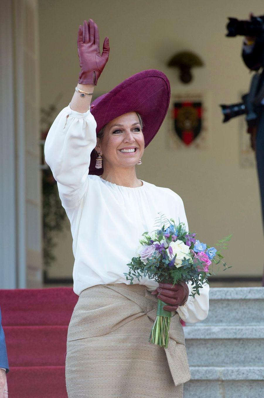 La reine Maxima des Pays-Bas en visite à Opheusden en Betuwe, le 29 mai 2019