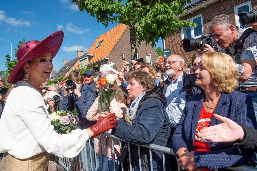 La reine Maxima des Pays-Bas à Opheusden en Betuwe, le 29 mai 2019