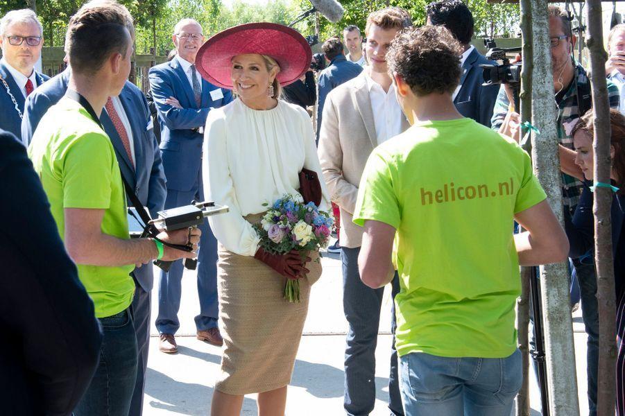 La reine Maxima et le roi Willem-Alexander des Pays-Bas à Opheusden en Betuwe, le 29 mai 2019