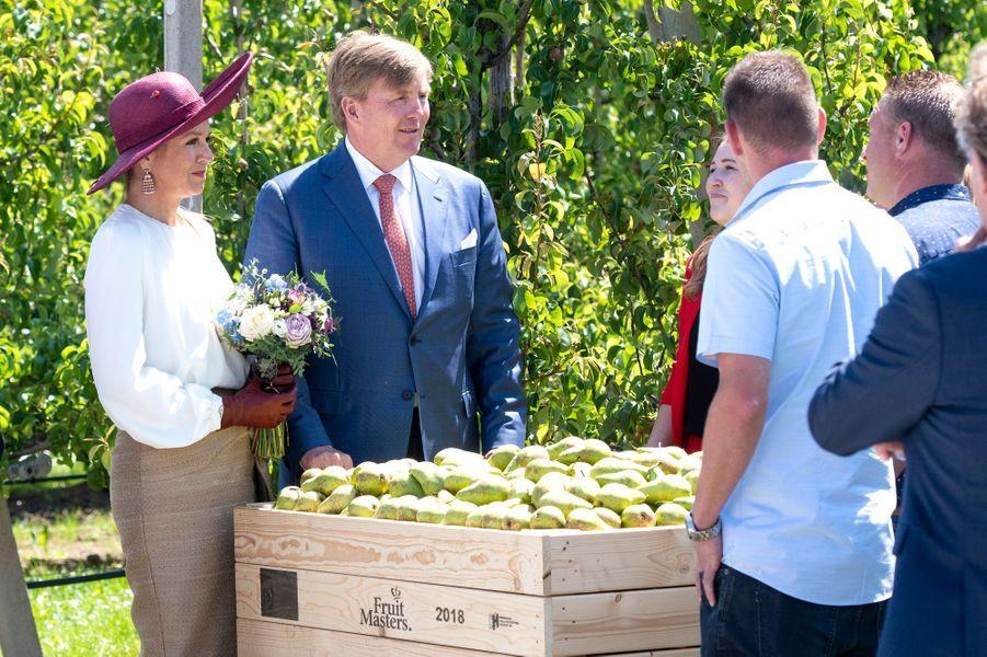 La reine Maxima et le roi Willem-Alexander des Pays-Bas à Geldermalsen en Betuwe, le 29 mai 2019