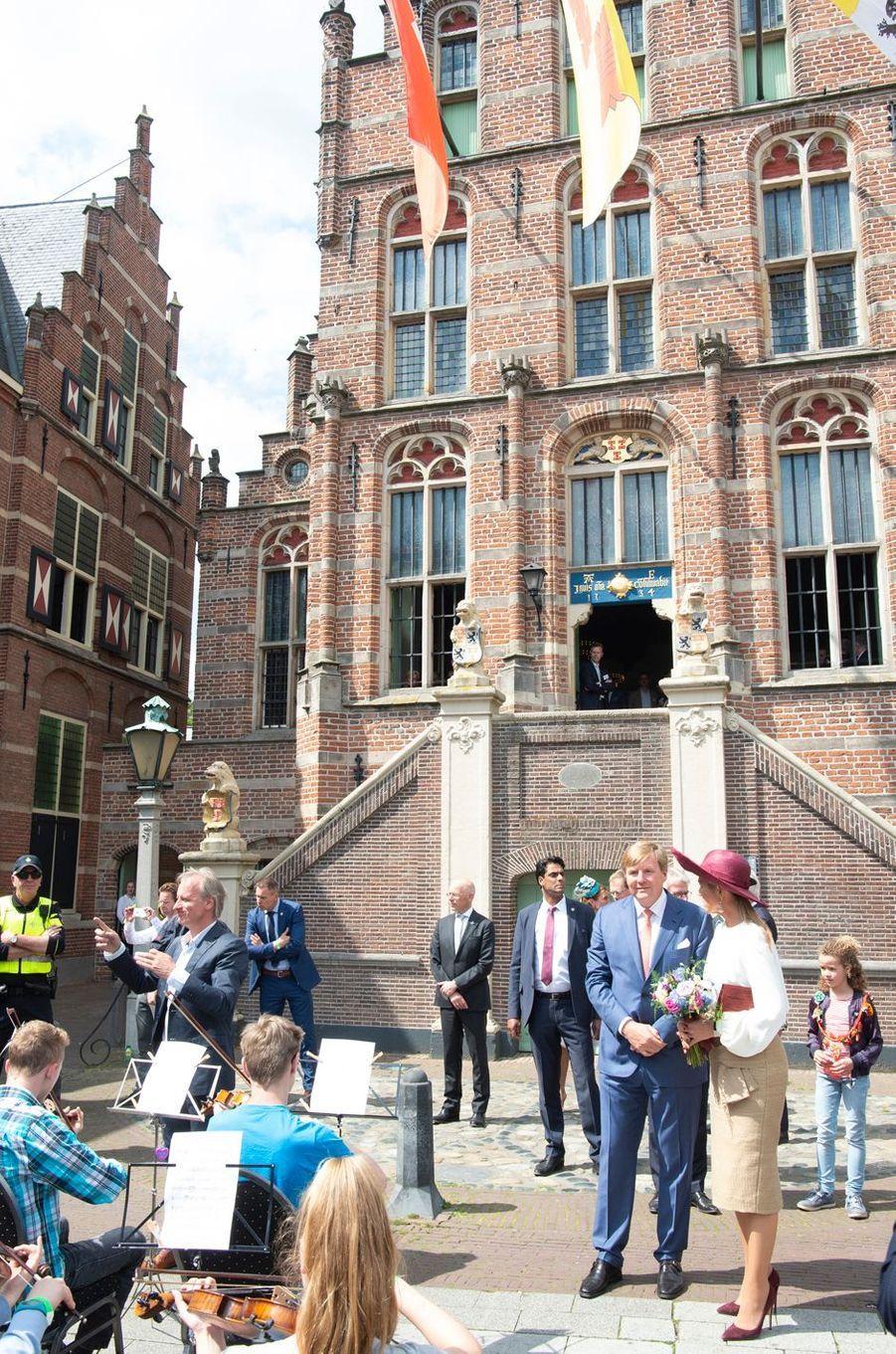La reine Maxima et le roi Willem-Alexander des Pays-Bas à Culemborg en Betuwe, le 29 mai 2019