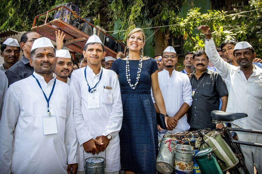 La reine Maxima des Pays-Bas à Mumbai (Bombay), le 30 mai 2018