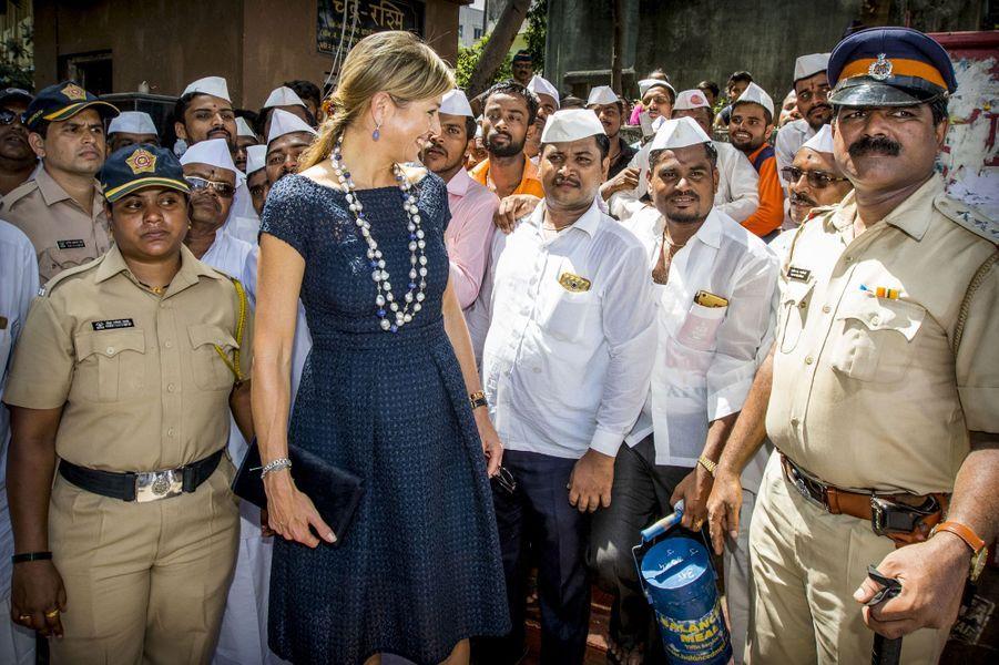 La reine Maxima des Pays-Bas à Bombay, le 30 mai 2018