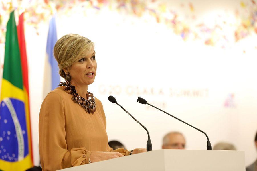 La reine Maxima des Pays-Bas à Osaka, le 29 juin 2019