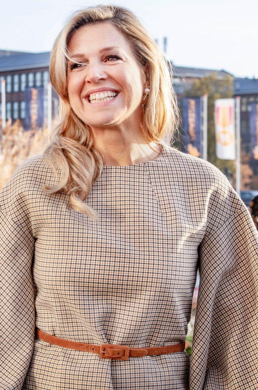 La reine Maxima des Pays-Bas tout sourire à La Haye, le 14 novembre 2018