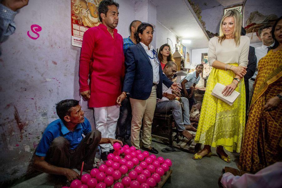 La reine Maxima des Pays-Bas à Meerut, le 29 mai 2018