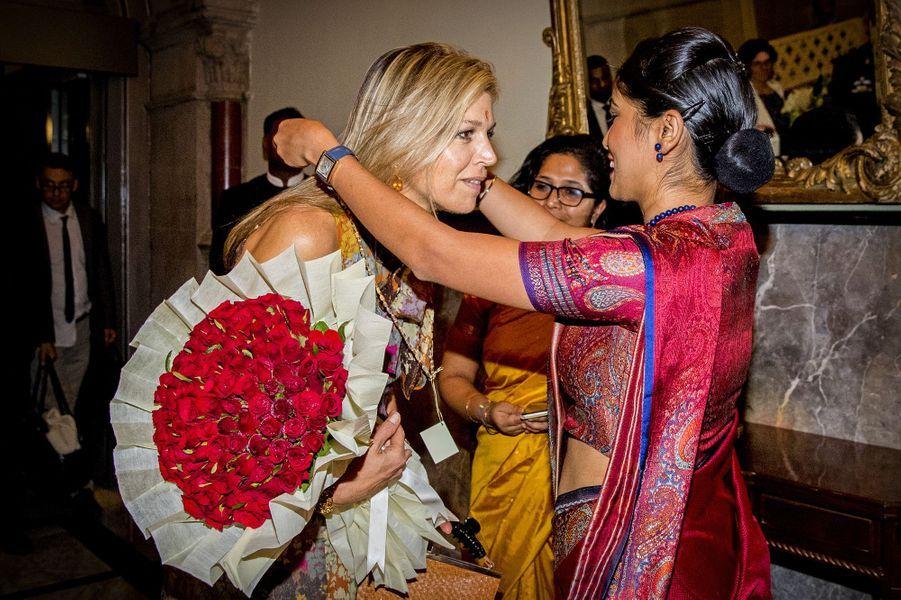 La reine Maxima des Pays-Bas au Taj Mahal Palace à Mumbai (Bombay), le 29 mai 2018