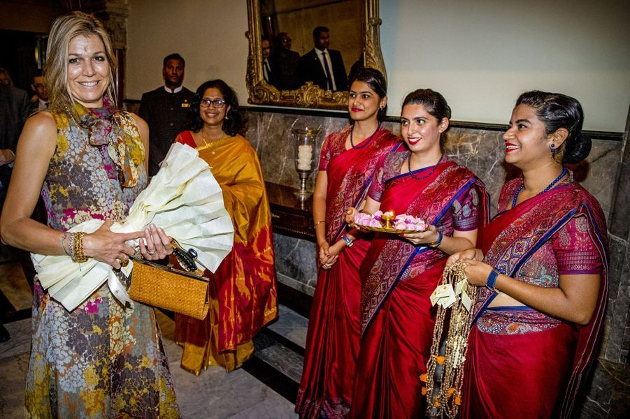 La reine Maxima des Pays-Bas au Taj Mahal Palace à Mumbai, le 29 mai 2018