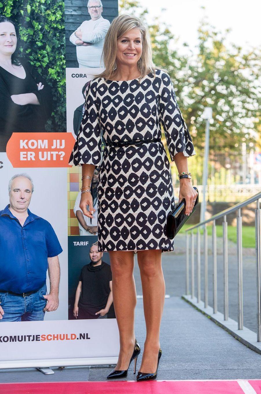 La reine Maxima des Pays-Bas dans une robe Natan à Utrecht, le 9 septembre 2019
