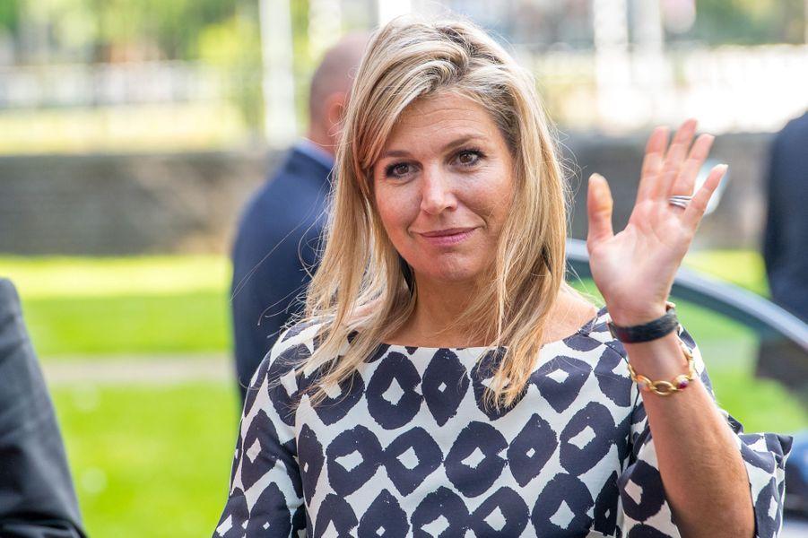 La reine Maxima des Pays-Bas de retour à Utrecht, le 9 septembre 2019
