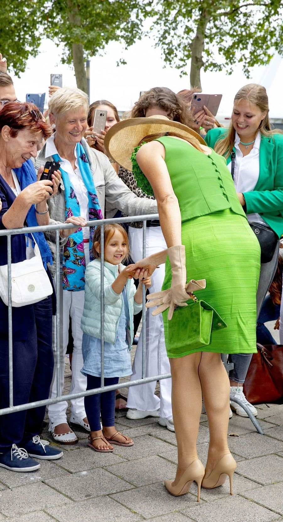La reine Maxima des Pays-Bas à Rotterdam, le 3 juillet 2019