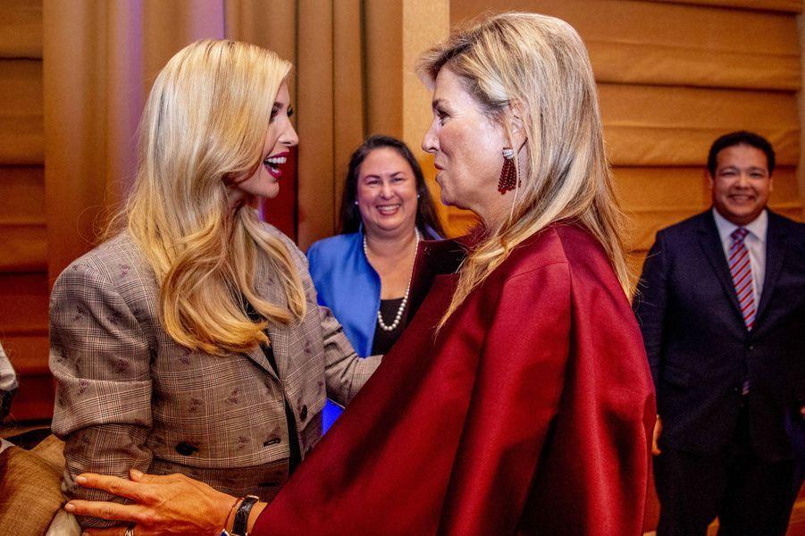 Ivanka Trump et la reine Maxima des Pays-Bas à New York, le 25 septembre 2018