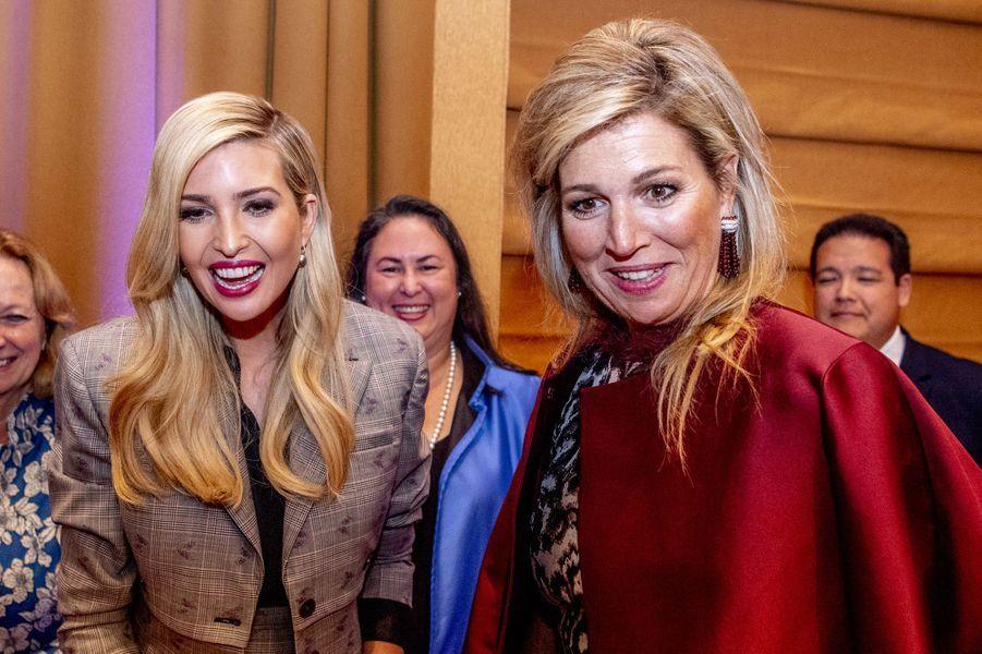 La reine Maxima des Pays-Bas avec Ivanka Trump, le 25 septembre 2018 à New York